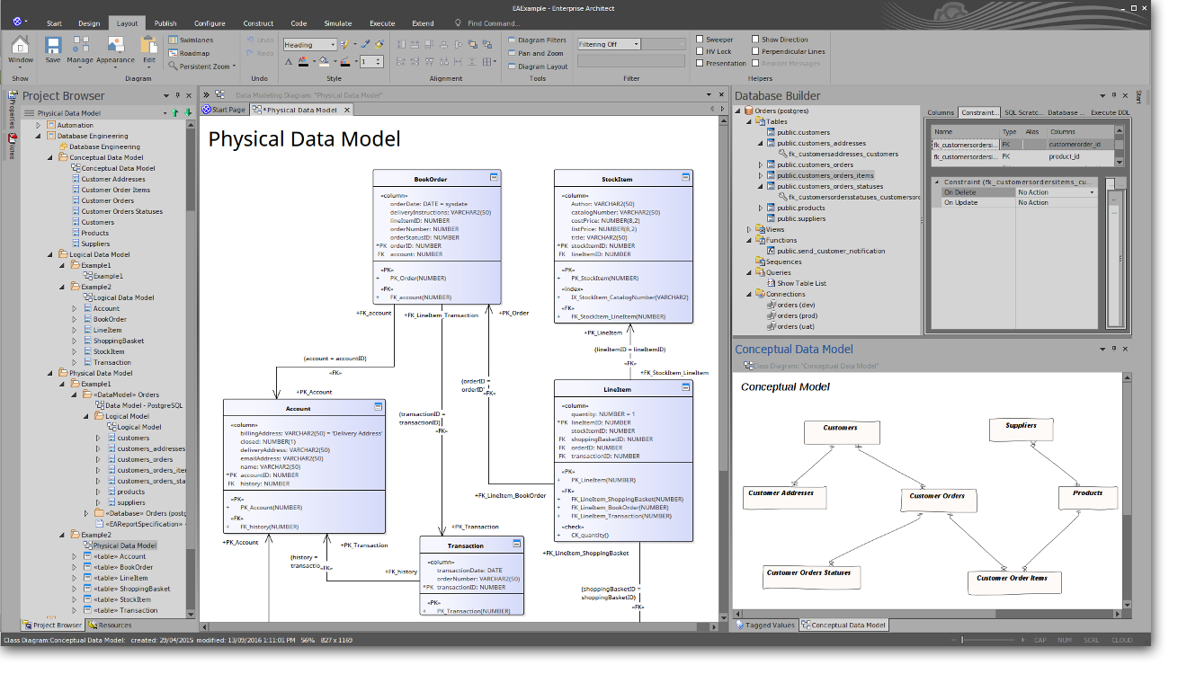 Enterprise Architect: Powerful Database Modeling - Physical Data Model