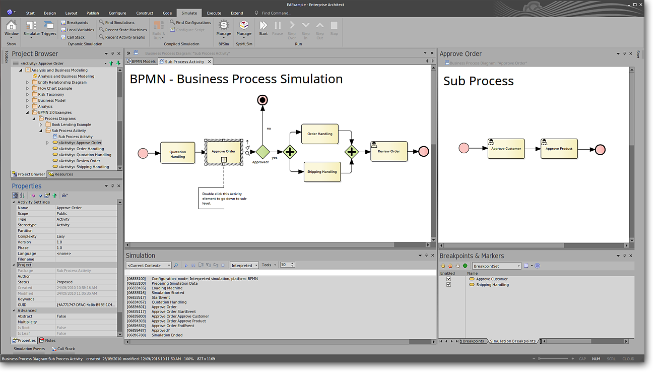 Enterprise Architect: Business Simulation